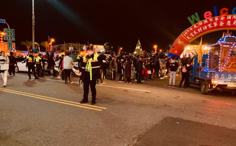 首屆武財神寒單爺繞境慶元宵 花蓮警動員交管 呼籲用路人注意安全
