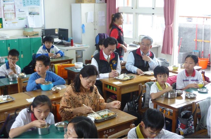 108年徐榛蔚縣長視察中正國小營養午餐照片